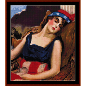 civilization calls - american history cross stitch pattern by cross stitch collectibles