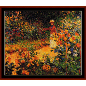 Garden Path at Giverny - Monet cross stitch pattern by Cross Stitch Collectibles | Crafting | Cross-Stitch | Wall Hangings