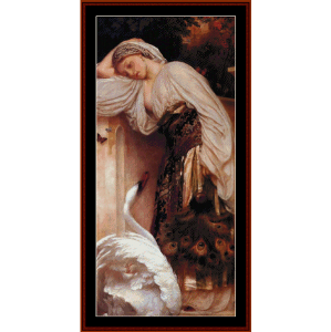 odalisque, 1862 - leighton cross stitch pattern by cross stitch collectibles