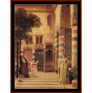 old damascus, 1874 - leighton cross stitch pattern by cross stitch collectibles