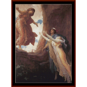 return of persephone - leighton cross stitch pattern by cross stitch collectibles