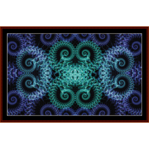 Fractal 435 cross stitch pattern by Cross Stitch Collectibles | Crafting | Cross-Stitch | Wall Hangings