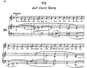 auf einer burg op.39 no.7, medium voice in e minor (original key), r. schumann (liederkreis), c.f. peters