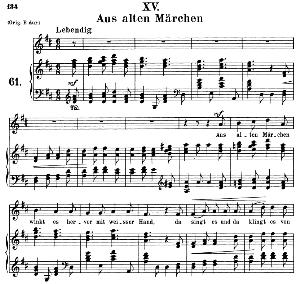 Aus alten Märchen Op.48 No.15, Medium Voice in D Major, R. Schumann (Dichterliebe), C.F. Peters | eBooks | Sheet Music