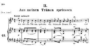 aus meinen trânen spriessen op.48 no.2, medium voice in g major, r. schumann (dichterliebe), c.f. peters