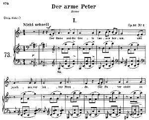 Der arme Peter I, Op.53 No.3, Medium Voice in F Major, R. Schumann, C.F. Peters | eBooks | Sheet Music