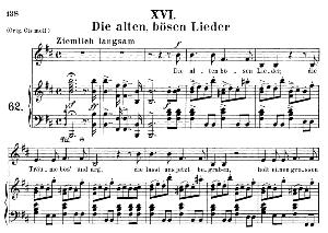 die alten, bösen lieder op.48 no.16, medium voice in b minor, r. schumann (dichterliebe), c.f. peters