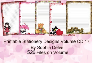 printable stationary designs vol 17