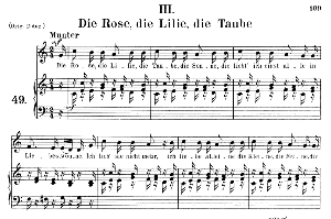 die rose die lilie die taube op.48 no.3, medium voice in c major, r. schumann (dichterliebe), c.f. peters