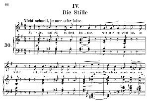 die stille op 39 no.4, medium voice in g major, r. schumann (liederkreis), c.f. peters