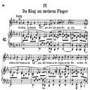 Du Ring an meinem Finger Op.42 No.4,  Medium Voice in E Flat Major, R. Schumann (Frauenliebe und Leben), C.F. Peters | eBooks | Sheet Music