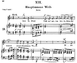 Hauptmanns Weib Op.25 No.19, Medium Voice in D Minor, R. Schumann (Myrthen), C.F. Peters | eBooks | Sheet Music
