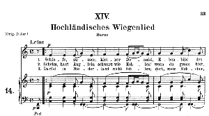 hochländisches wiegenlied op.25 no.14, medium voice in c major, r. schumann (myrthen), c.f. peters