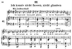 ich kann's nicht fassen, op.42 no.3, medium voice in c minor, r. schumann (frauenliebe und-leben). c.f. peters