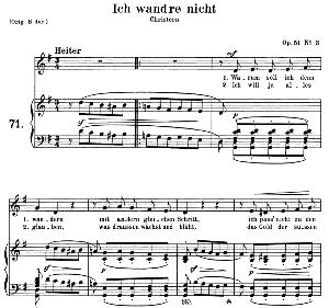 ich wand're nicht Op 51 No.3, Medium Voice in G Major, R. Schumann, C.F. Peters | eBooks | Sheet Music