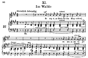 im walde op.39 no.11, medium voice in a major,  r. schumann (liederkreis), c.f. peters