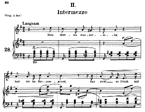 Intermezzo Op.39 No.2, Medium Voice in G Major, R. Schumann (Liederkreis), C.F. Peters | eBooks | Sheet Music
