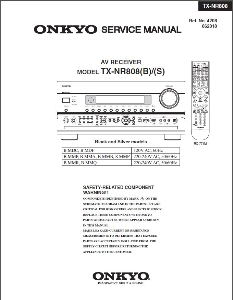 onkyo tx-nr808 receiver original service manual download