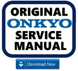 onkyo tx-sr607 receiver original service manual download
