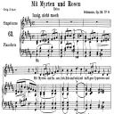 Mit Myrten und Rosen Op.24 No.9, Medium Voice in B Major, R. Schumann, C.F. Peters | eBooks | Sheet Music