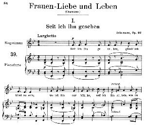 Seit ich ihn gesehen Op. 42 No.1, Medium Voice in B Flat Major (Original key), R. Schumann (Frauenliebe und-leben), C.F. Peters | eBooks | Sheet Music