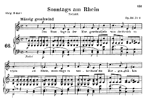 sonntags am rhein op.36 no.1, medium voice in c major, r. schumann, c.f. peters
