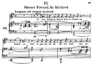 Süsser Freund, du blickest Op. 42 No.6, Medium Voice in G Major (Original Key), R. Schumann (Frauenliebe und-leben), C.F. Peters | eBooks | Sheet Music