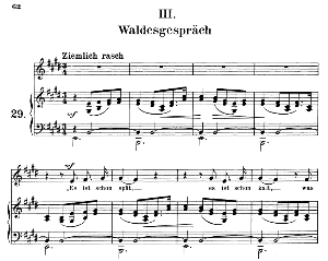 waldesgeschpräch op.39 no.3, medium voice in e major (original key), r. schumann (liederkreis), c.f. peters