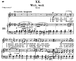 weit, weit op.25 no.20, medium voice in f minor, r. schumann (myrthen)