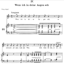Wenn ich in deine Augen seh Op. 48 No.4, Medium Voice in F Major, R. Schumann (Dichterliebe), C.F. Peters | eBooks | Sheet Music