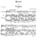 Widmung Op.25 No.1, Medium Voice in G Flat Major, R. Schumann (Myrten); C.F. Peters | eBooks | Sheet Music