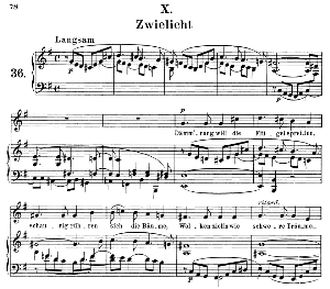 zwielicht op.39 no.10, medium voice in e minor (original key), r. schumann (liederkreis), c.f. peters