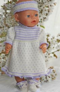 dollknittingpatterns - 0111d atea - dress, pants, socks and hairband