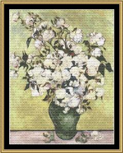 vase with roses - van gogh