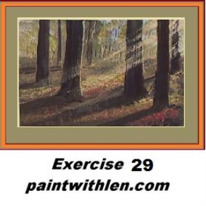 29 paint sun beams