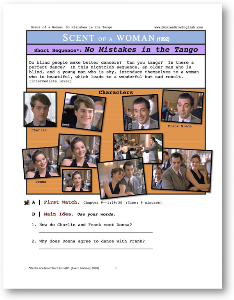 scent of a woman, no mistakes in the tango, short-sequence english (esl) lesson