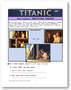 titanic, spitting lesson, short-sequence english (esl) lesson
