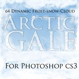 ArcticGale - Photoshop Dynamic Winter Brushes | Other Files | Patterns and Templates