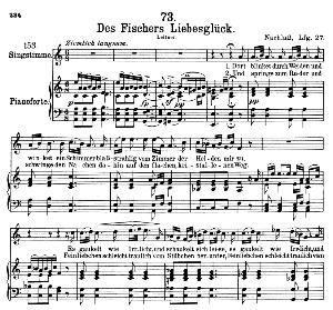 Des Fischers Liebesglück D.933, High Voice in a minor (Original Key), F.Schubert, C.F. Peters   eBooks   Sheet Music