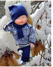 DollKnittingPattern 0013D VEGARD-VERA - sweater, pants. hat and scarf-(English) | Crafting | Knitting | Baby and Child