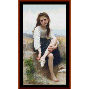 before the bath - bouguereau cross stitch pattern by cross stitch collectibles