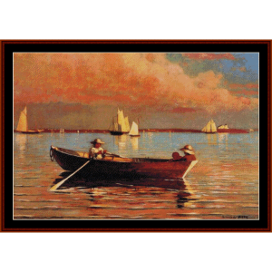 gloucester harbor - w. homer cross stitch pattern by cross stitch collectibles