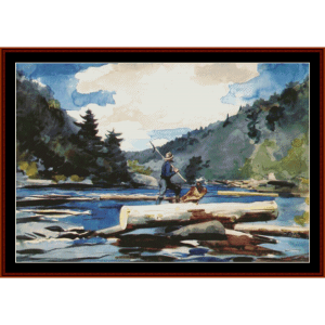 hudson river ii - w. homer cross stitch pattern by cross stitch collectibles