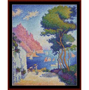 capo di noli - signac cross stitch pattern by cross stitch collectibles