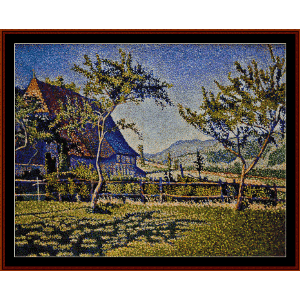 comblat castle - signac cross stitch pattern by cross stitch collectibles
