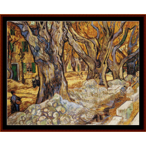 large plane trees - van gogh cross stitch pattern by cross stitch collectibles