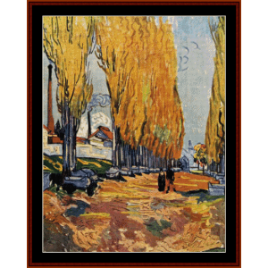 Les Alyscamp, 1888 - Van Gogh cross stitch pattern by Cross Stitch Collectibles | Crafting | Cross-Stitch | Wall Hangings