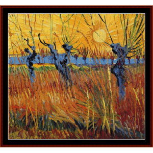 Willows and Setting Sun - Van Gogh cross stitch pattern by Cross Stitch Collectibles | Crafting | Cross-Stitch | Wall Hangings
