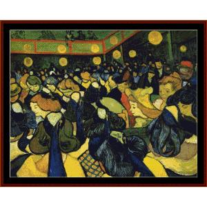 ballroom at arles - van gogh cross stitch pattern by cross stitch collectibles
