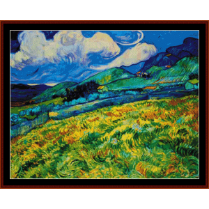 landscape from st. remy - van gogh cross stitch pattern by cross stitch collectibles